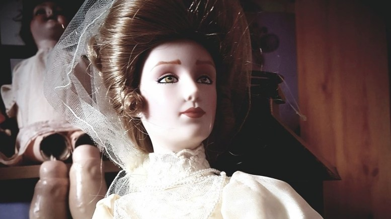 The Bridal Doll, part of the Haunted Objects Museum exhibition.