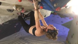 Public health marketing officer Hanna Scorer has taken to climbing and yoga when she worries about her exercise routine.