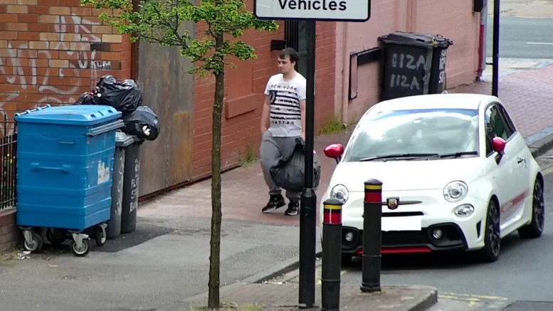 This man is suspected of fly-tipping in Morpeth Street, Hull.