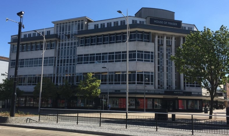 House of Fraser in Paragon Square, Hull.