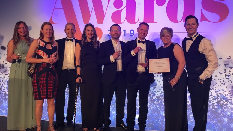 The Living with Water team after winning the Excellence in Collaboration Award at the British Quality Foundation Awards.
