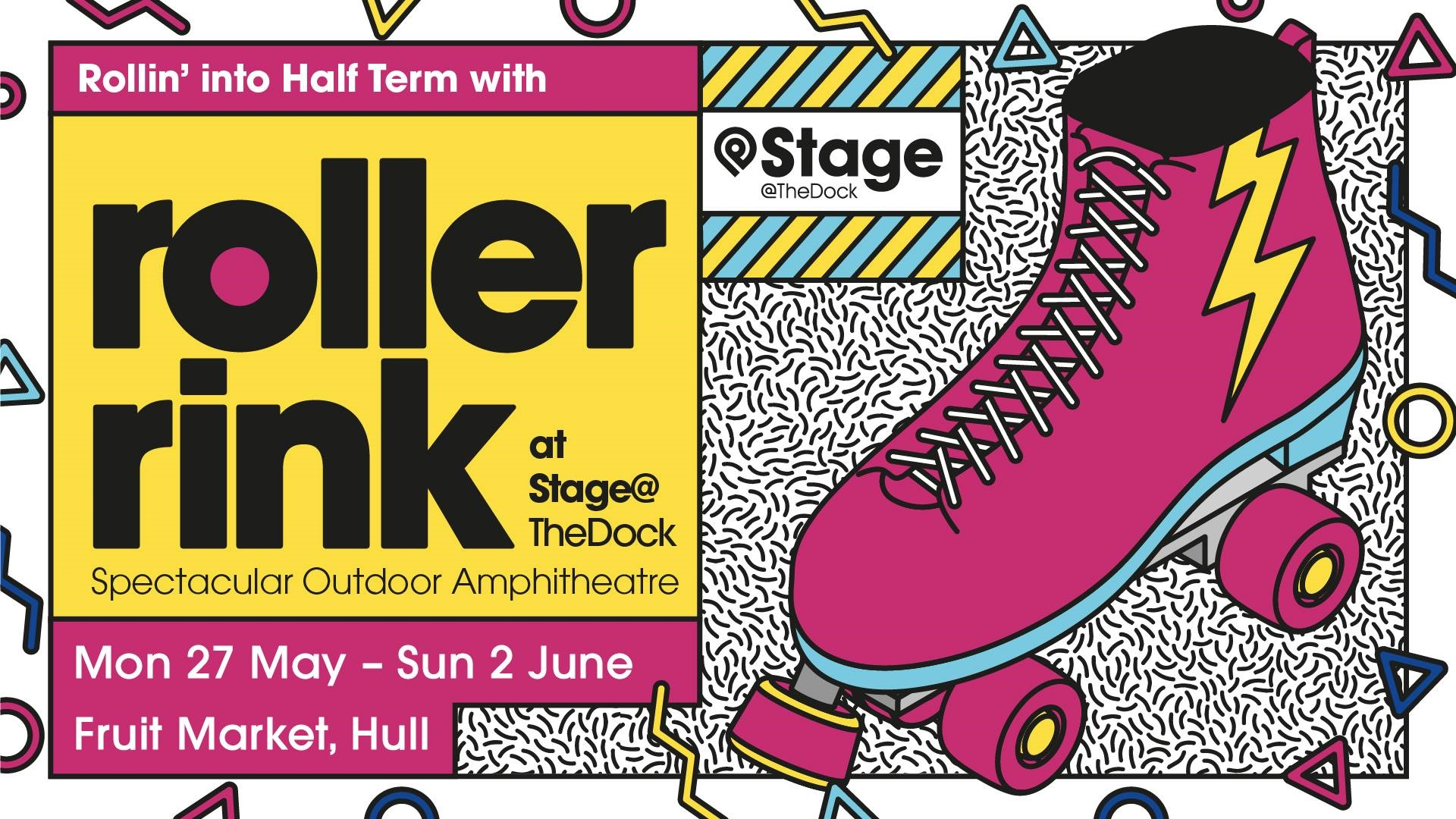 The Stage@TheDock amphitheatre at the Fruit Market will become a roller rink.