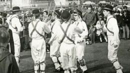Morris dancers in Queen's Gardens in 1970.