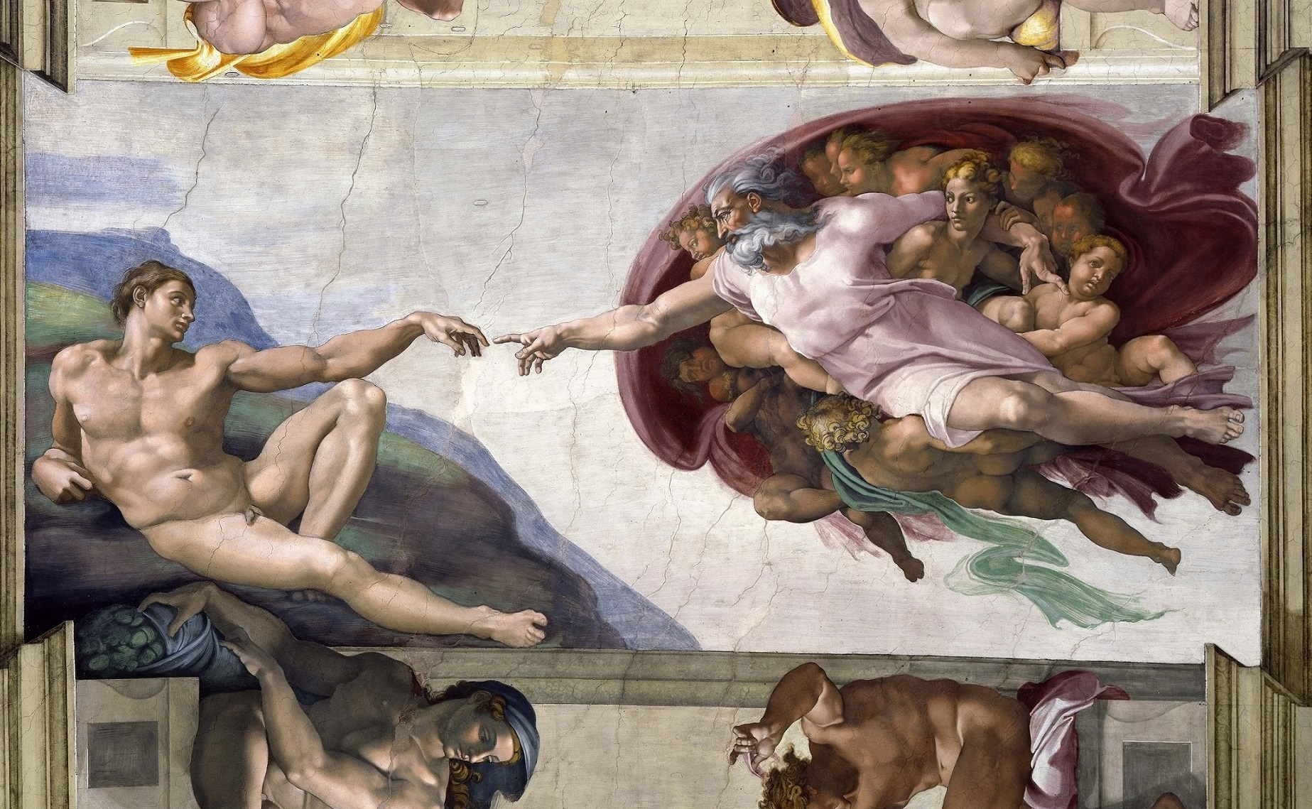 The Creation of Adam by Michelangelo.