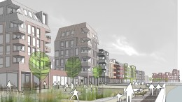 Harper Perry's winning design in the RIBA Living With Water competition featured a waterfront promenade dotted with sunken ball courts, amphitheatres and play parks.