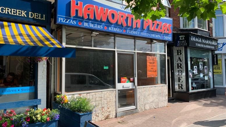 Haworth Pizzas in Cottingham Road, Hull.