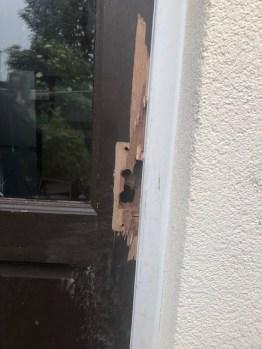 Damage to the front door