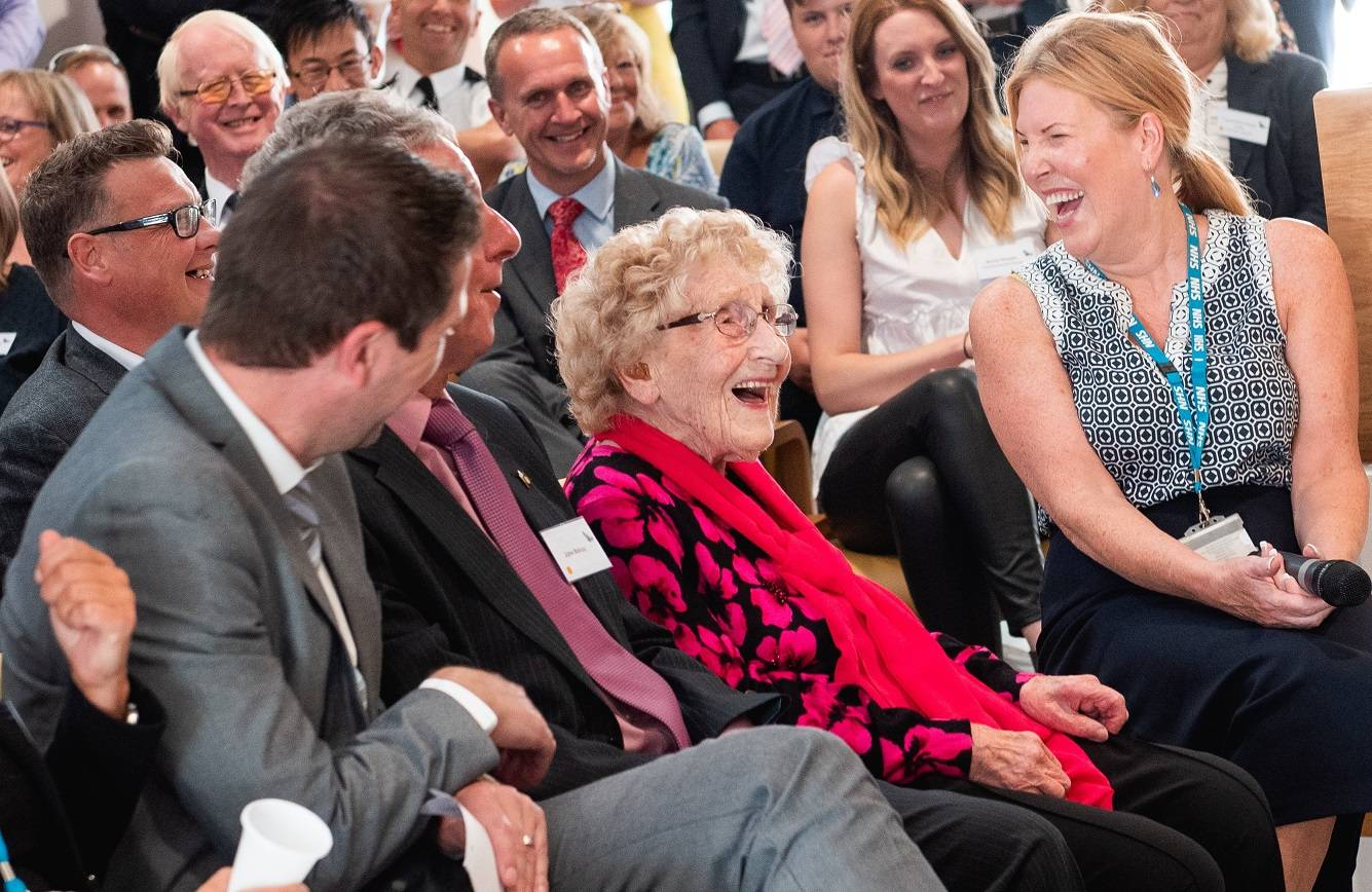 Jean Bishop, Hull's Bee Lady, centre, who opened The Jean Bishop Integrated Care Centre.