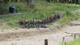 Arson attack on lake area