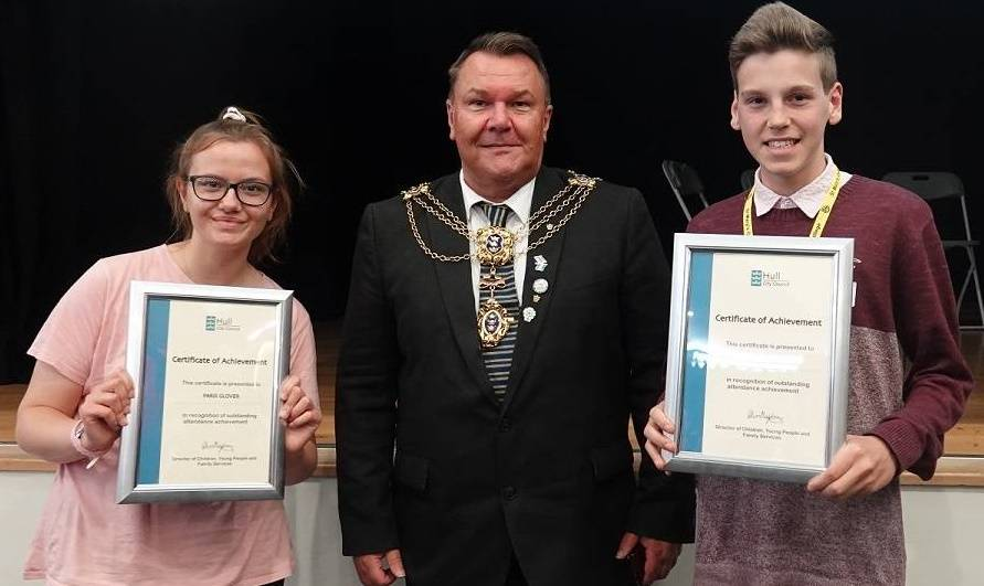 Paris and Ben with the Lord Mayor