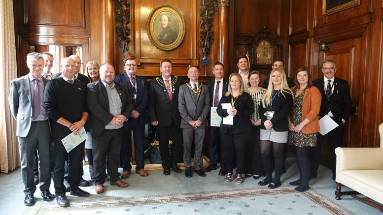 Hull businesses in the Lord Mayor's parlour