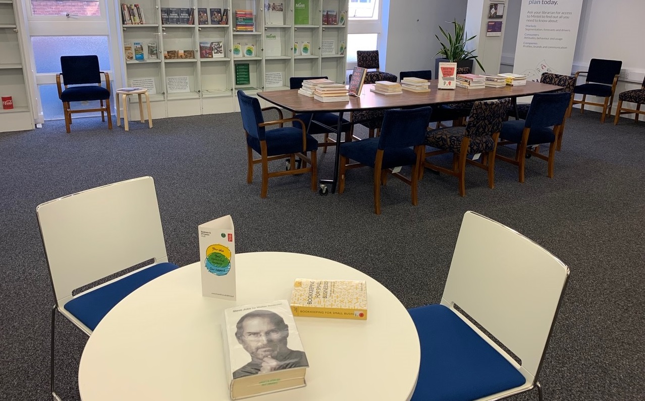The business lounge at Hull Central Library.