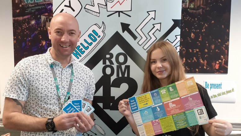 Phil Morris, personal advisor for the Care Leaver Team, and Care Leaver Champion Georgie Taylor.