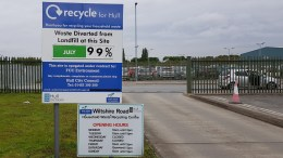 Wiltshire Road household waste and recycling centre.