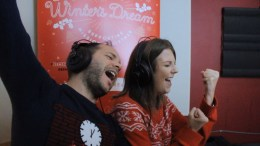 Charity Christmas song A Winter's Dream being recorded in Hull.