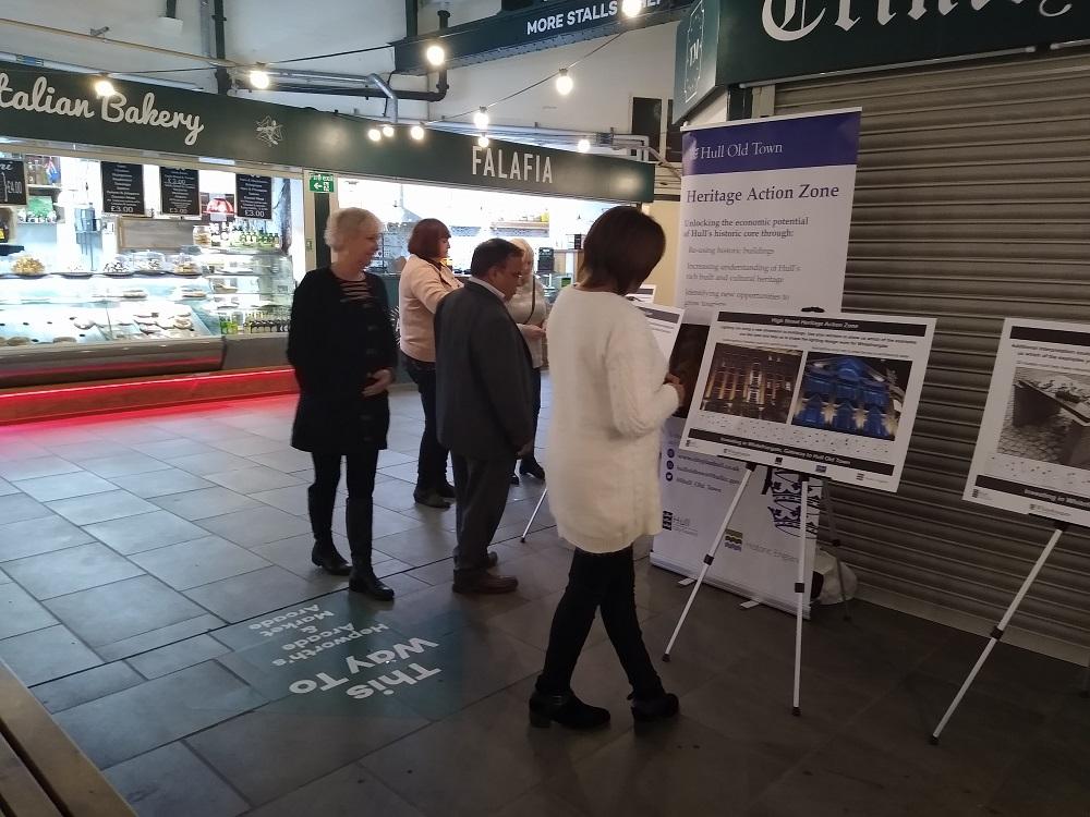 Whitefriargate regeneration engagement event at Trinity Market