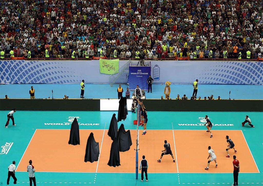 Veiled Volleyball, 2019, Digital Print by Natasha Monfared