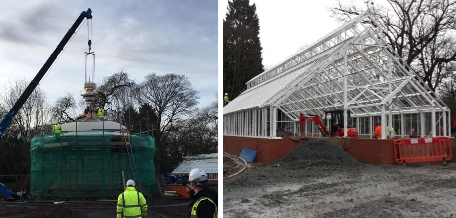 Work on the Pearson Park bandstand and conservatory