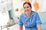 An NHS nurse.
