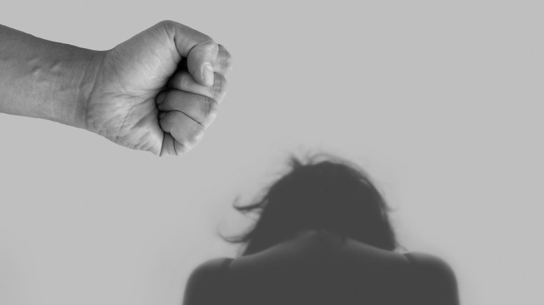 A women suffers domestic abuse