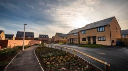Houses at the Alexandra Gardens housing development in east Hull.
