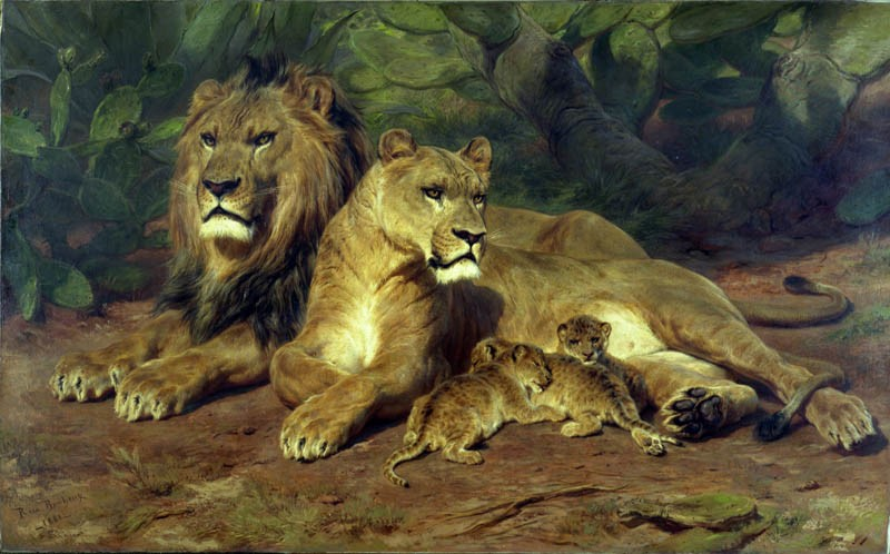 Rosa Bonheur, Lions at Home, 1881. © Ferens Art Gallery, Hull Museums