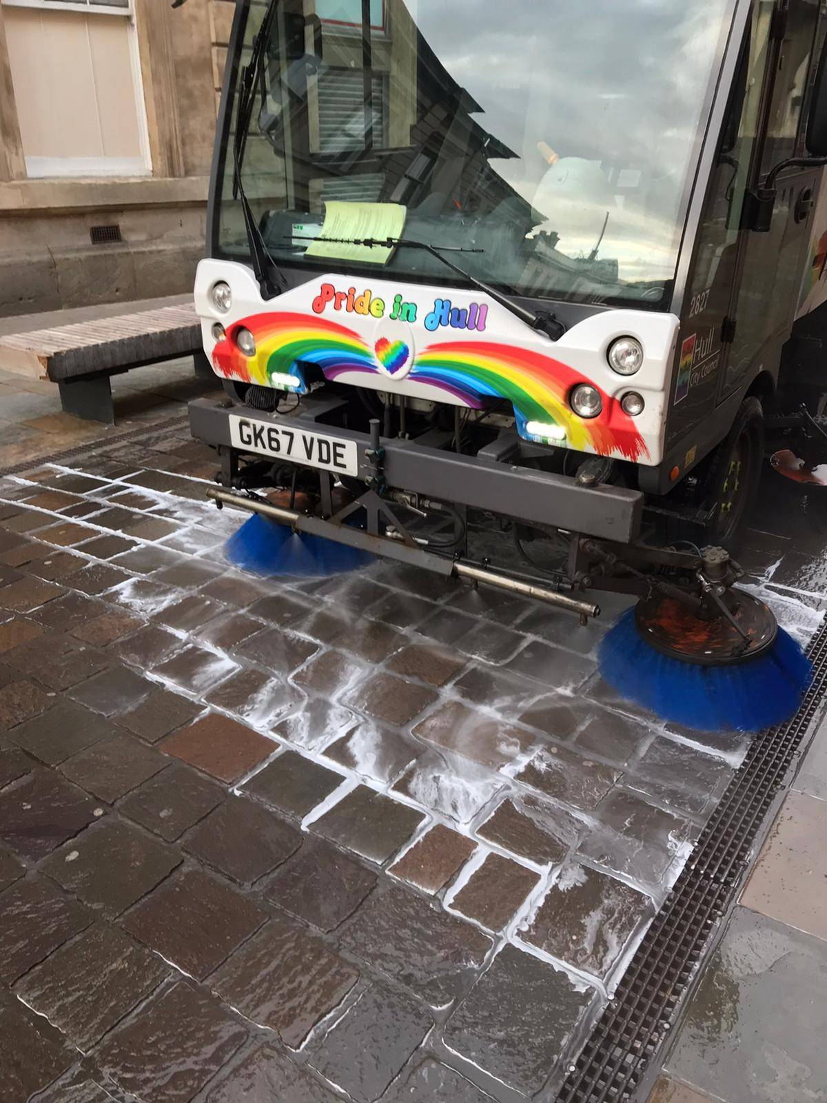 Streets being cleaned in Hull