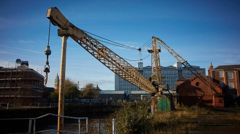 A scotch derrick crane in Hull.