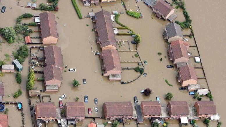 Hull from above after the 2007 floods.