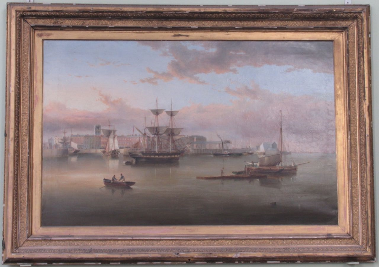 The Calm on the Humber painting at the Maritime Museum is one of the works to be conserved.