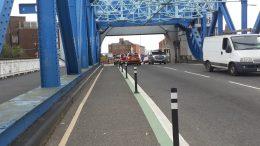 North Bridge cycle lanes