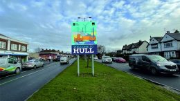 New Welcome to Hull sign on street