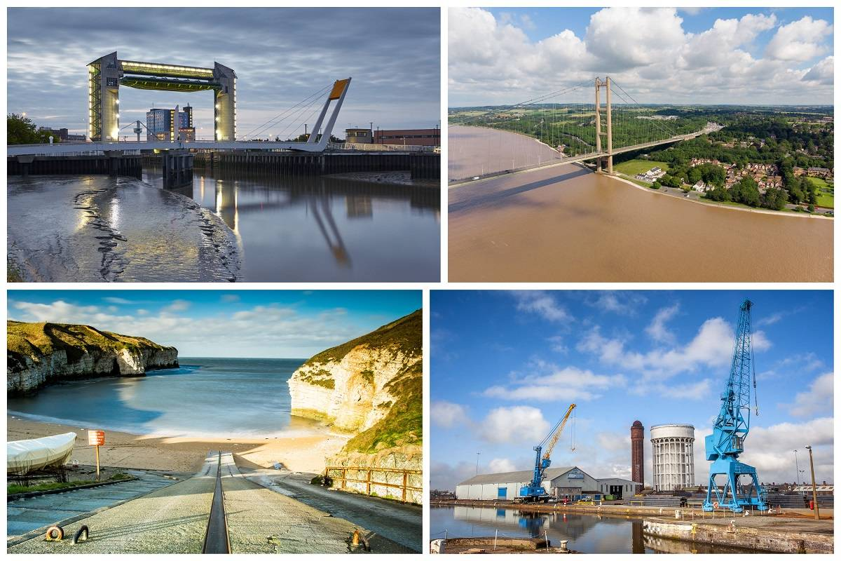 A collage of landmarks in Hull and East Yorkshire