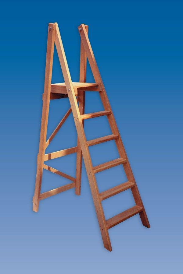 Wooden Step Ladder Platform