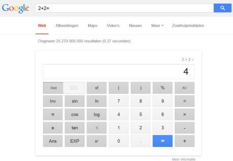 Hulpmetcomputer_Google_rekenmachine