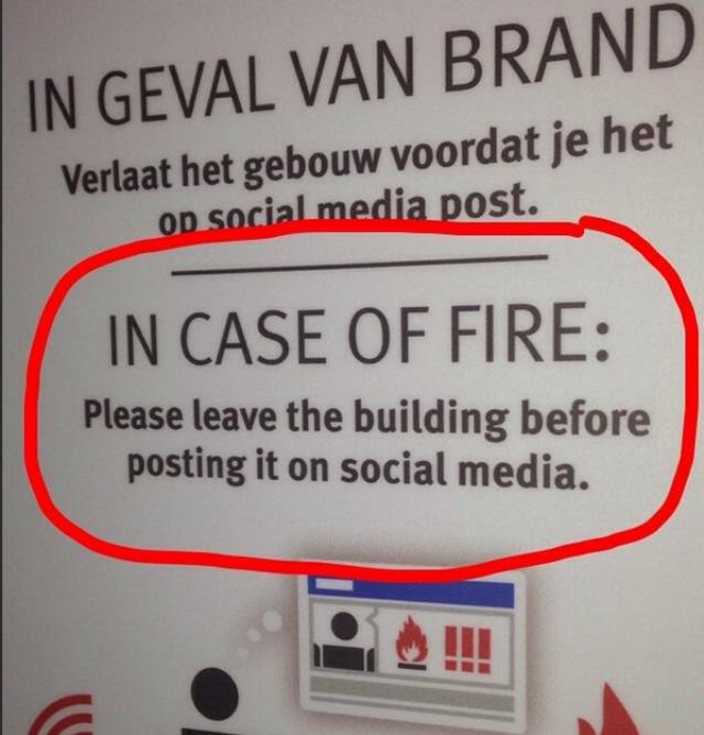 In geval van brand