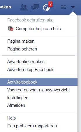 hulp met computer-facebook-activiteten