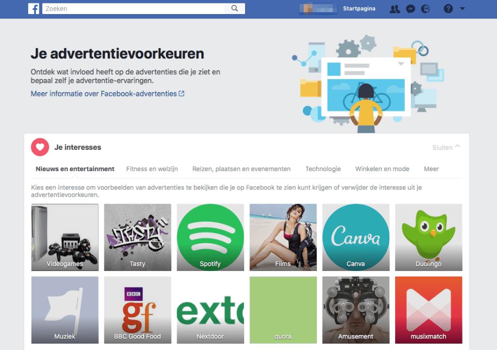 facebook interesse
