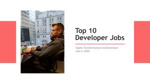 Top 10 Developer Jobs