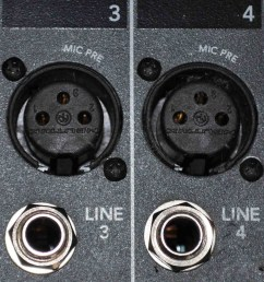 the difference between the two inputs apart from one being balanced and the other unbalanced is that they have different amplifiers to get the signal to  [ 924 x 1024 Pixel ]