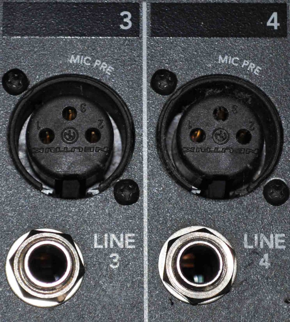 medium resolution of the difference between the two inputs apart from one being balanced and the other unbalanced is that they have different amplifiers to get the signal to