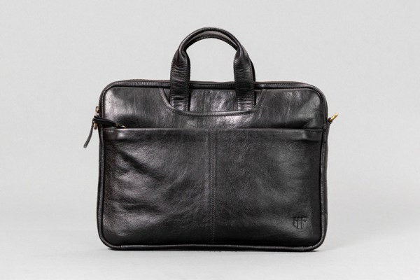 Slim Leather Laptop Bag