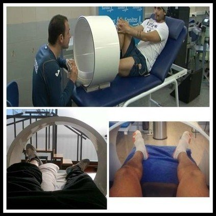 Magnet Therapy devices on elite football players
