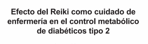 Reiki Mexico Diabetes Mellitus type 2