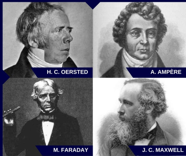 Oersted Ampere Faraday Maxwell