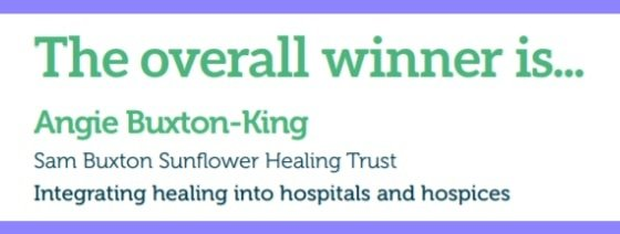 Overall Winner Sam Buxton Healing Trust