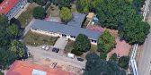 Luftaufnahme des Bürgerhauses in Halle-Süd.