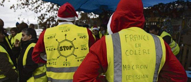 à trois jours de Noël, les gilets jaunes ont manifesté de nouveau samedi dans toute la France. Laurent Ferrière/HansLucas/AFP