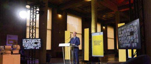 Jean-Michel Blanquer au Conseil économique, social et environnemental, à Paris, le mercredi 26 mai. Geoffroy Van Der Hasselt/AFP
