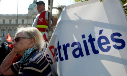 Les retraités sont appelés à battre le pavé jeudi 14 juin à l'initiative de neuf organisations syndicales. Photo : Boris Horvat/AFP